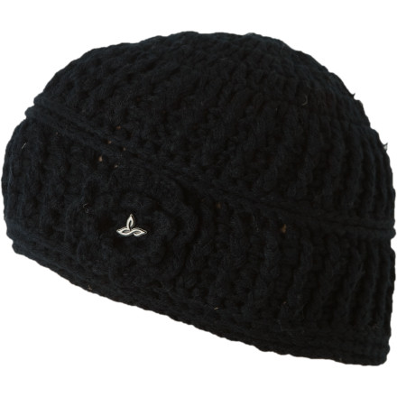 You don't need a knited flower to to keep your head warm, but it's a nice, stylish detail on the hand-knit prAna Betty Women's Beanie. - $17.97