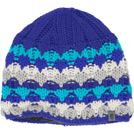 Midwinter days can be so cold and drearily gray; pull on The North Face Women's Lizzy Bizzy Beanie for a splash of color and a big dose of warmth. The festive knit pattern on this cheerful beanie brightens your day, while a soft microfleece lining makes extra-sure that you're conserving precious warmth. - $22.72
