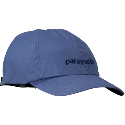 Camp and Hike Whether your adventures take you to a nearby fishing hole, on a trek through South America, or to your nephews little-league baseball game, the Patagonia Logo Hat is ready to accompany you every step of the way. The eco-friendly folks at Patagonia made this lid with 100% organic cotton to tread lightly on the planet and included a sweat-wicking headband so that you can keep your eyes fixed on the task at hand. - $18.85