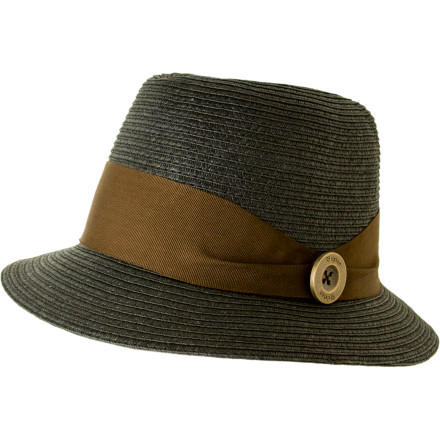 Bring a sense of roguish style to your beachside bonfire tonight with the Brixton Parlor Hat. Full straw construction says you're relaxed, and a padded headband lining ensures comfort. Toss in a Brixton rivet to let the crowd know what you're about. - $33.96