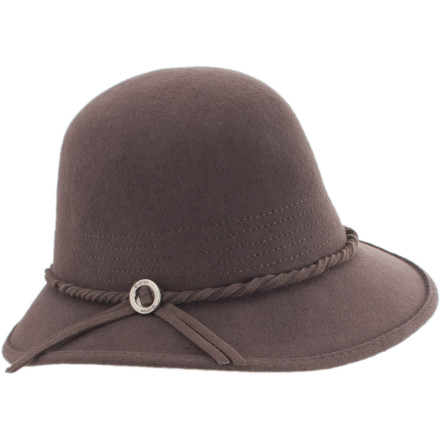 Three-year-old niece give your lovely locks a 'trim' while you were taking a nap on the couch' Pull on the Brixton Kat Felt Hat, and avoid crisis until you can get to the salon. - $27.57