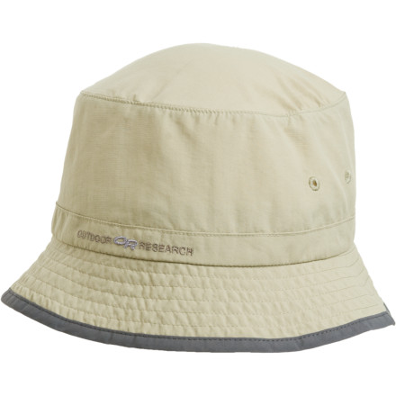 Whether you're rafting the Colorado or fishing a small mountain stream, the Outdoor Research Bugaway Bucket Hat protects you from nasty biting insects and the sun's harsh rays. Treated with Insect Shield technology that lasts over 70 washes, this hat sends ticks, no-see-ums, and other bloodsucking bugs scattering. Its UPF-30 rated fabric protects you from the sun's UV rays, and its sewn eyelets give you plenty of ventilation so you don't overheat while paddling down the river. The Bugaway also has a TransAction headband that provides comfort and moisture management so your not constantly wiping your brow with your bandana. - $14.78