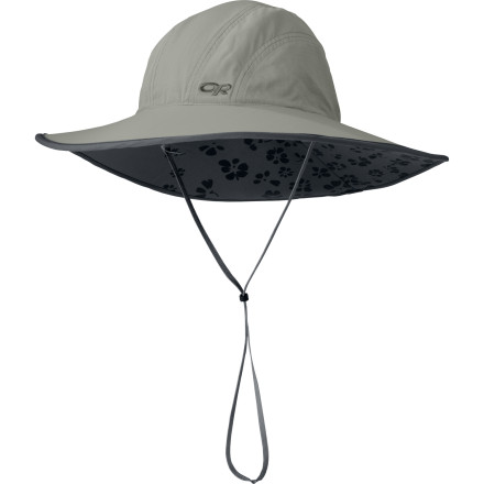 Camp and Hike Like a shaded pond in the desert or an umbrella at the beach, the Outdoor Research Women's Oasis Sombrero lends respite from the sun and protects your skin from harmful UV rays. And while no one knows for sure how much protection you receive while resting under a palm tree, the Oasis Sombrero has been scientifically engineered to provide UPF-50-rated protection from that giant ball of burning hydrogen in the sky. - $35.95