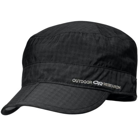 Camp and Hike The 2.1 ounce Outdoor Research Radar Pocket Cap packs small enough to put in your pocket and protects your head from the sun with its UPF 30+ rated SolarShield material. Outdoor Research also included a Dri-Release headband to increase comfort and moisture management on the trail. Grab the Radar Pocket Cap to eliminate the chance of a sun-burned head on your next hike. - $12.98