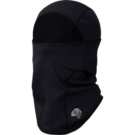 Climbing Four-way stretch ensures that the Mountain Hardwear Power Stretch Hardface Balaclava gives you complete coverage and comfort when the mercury pulls a disappearing act. The snug fit allows you to wear the Power Stretch under your helmet or hood so you can ski or climb on days when everybody else is just too cold to go, and because it's hinged at the sides, you can use it to cover as much or as little of your face as you need. - $34.95