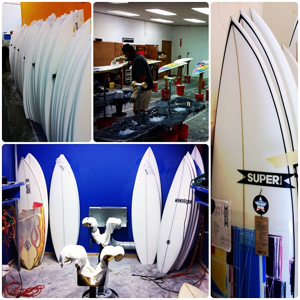 Surf Toured the SUPERbrand warehouse and found them making some surfboards. Need to pick one up for myself now!