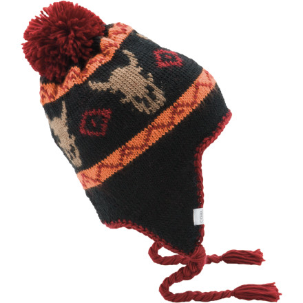 Even if you wear your homemade buffalo poncho out on a nice January afternoon in Fargo, you still have to slip on the Coal Dakota Flap Beanie to keep your ears from freezing solid. - $15.98