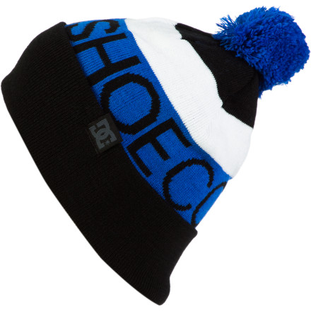Did you know that you lose five IQ points every time the temperatures sink below 30F' Don't let your intelligence escape with your body heat. Trap it with the DC Chester Pom Beanie. - $17.50