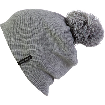 Cover up your helmet head with the Discrete Datlet Pom Beanie. So what if you havent showered in a couple of days' The Datlets clean look and sweet pompom makes you look put-together rather than like youre sleeping out of your van in the resort parking lot. - $16.87