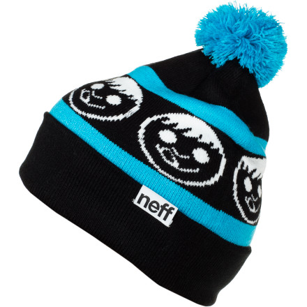 Skateboard The Neff Standard Pom Beanie has one ball, which makes you twice the man it could ever be. - $23.95