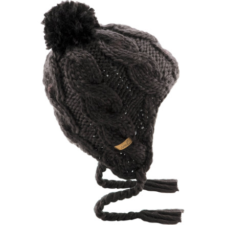 Could a knit-style flap beanie be both toasty warm and have a touch of sultry feminine flair' Does Oprah have a talk show' The answer lies in the Coal Women's Roaslita Pom Beanie. Silky smooth acrylic blend fabric comes together in a winter lid that will make your friends more than a little jealous of your sense of style. - $27.96