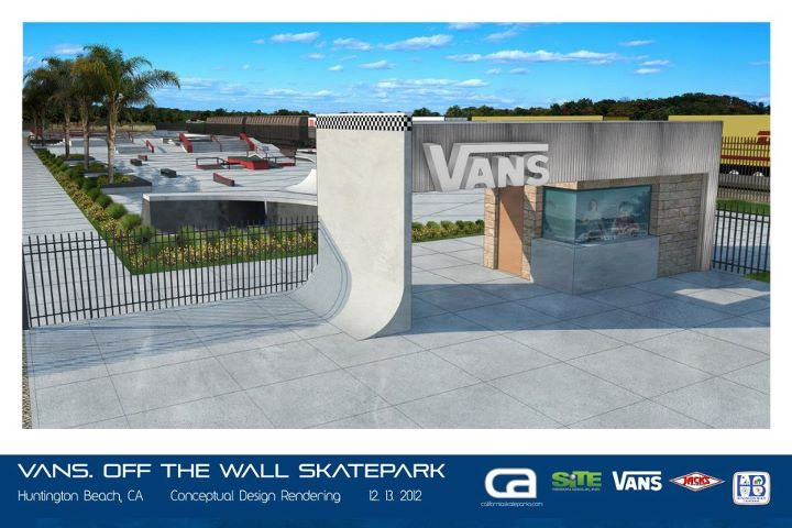 Skateboard Plans for new skatepark coming to Huntington Beach, CA