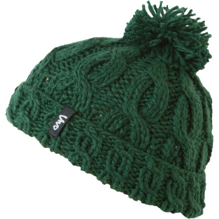 Featuring chunky cable knit and a dazzling pom accent, the Vivo Women's Pom-Springs Beanie is ideal for winter escapades whether they involve marching down slushy sidewalks or carving up the slopes. - $11.98