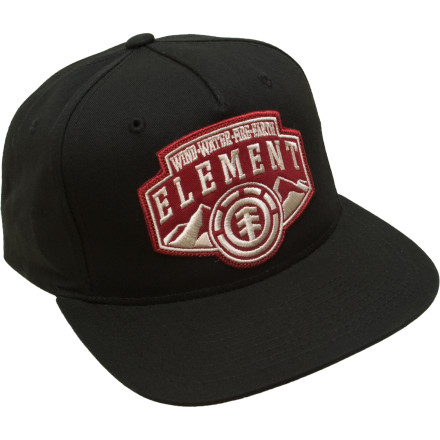 Skateboard Rock the Element Rocky Mountain Hat half-cocked and impress the 18-year old brunette with your 360 flip over off the tall side of the fun box. The cotton material doesn't just make you skate better, it makes you look betterlook out ladies. - $13.58