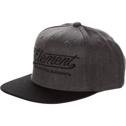 Skateboard Simple is as simple does, but simple sometimes does it right. Case in point: The Element All-Star Hat. Nothing too fancy, just enough to keep it from being plain. Flexfit for a clean, uncluttered look. Holler. - $17.56