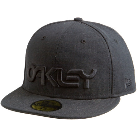 Sports The Oakley Factory New Era Hat doesn't mess around with stretchy wannabes. This flat-brim wool cap brings you authentic New Era 59Fifty quality and style. 3-D Oakley embroidery means this New Era hat isn't for the diamond. - $35.00