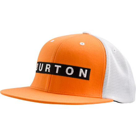 Snowboard Whether the current question perplexing your brain is 'where am I',' 'where am I going',' or 'where should I go tonight',' rest assured that the answer to your conundrum can always be found within the name of your Burton Bar Trucker Hat. - $12.48