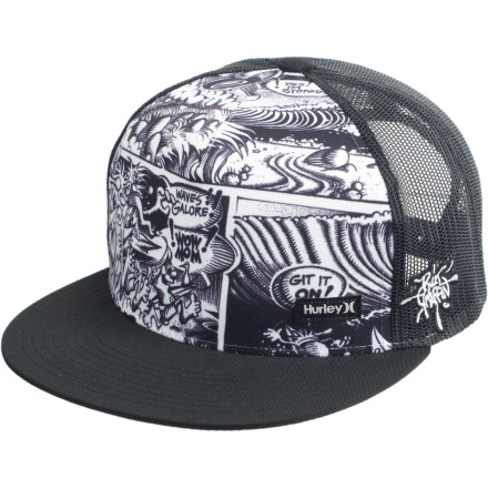 Surf Leading designer Rick Griffin created intense and memorable art heavily associated with the psychedelic movement. Adorn yourself with mind-melting psychedelia when you wear the Hurley Rick Griffin Hat, and bring some paper towels to help mop up your friends' oozing brains. - $17.47