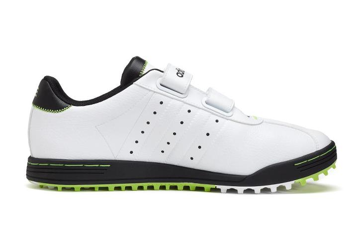 Golf Full-length spikeless outsole with 100 strategically-placed lugs in varying sizes for optimal grip