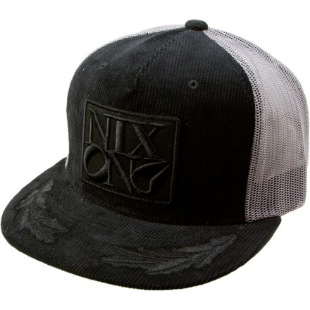 Nixon started with a totally decent corduroy trucker hat, then added a badass Nixon patch and a couple of crazy-cool brim patches to create the Nixon Corded Philly Hat. Wear it on days when you want to kick up the style a bit, or on days when you just dont want to mess with your hair. - $21.21