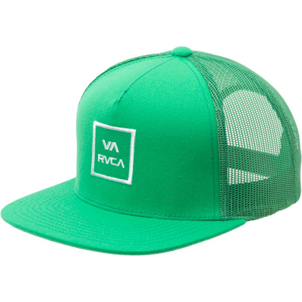 Skateboard Throw the RVCA VA All The Way Trucker Hat on your greasy mop, head down to the nearest highway, and collect yourself some dinner. - $23.95