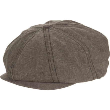 Extra, extra! It might be hard to keep the shouts inside when you pull on the Brixton Brood Hat. This wool hat has a timeless newsboy style, so it will look good with everything from jeans to tweed suits. Not that you wear tweed suits. - $16.98