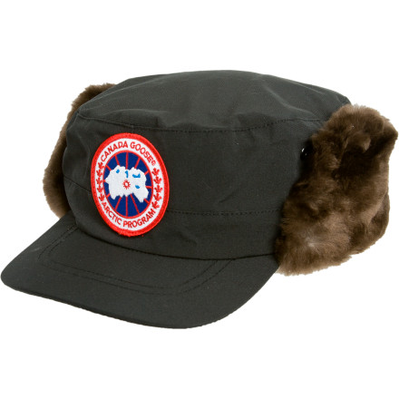 Fishing More authentic than a Piper Super Cub docked outside an Alaskan cabin, the Canada Goose Classique Beaver Fur Hat easily achieves heirloom status. The Arctic-Tech crown sheds all but the most foul winter conditions, while the genuine sheared beaver-fur-trimmed ear flaps wait for deployment in high wind and heavy snow. A Canada Goose badge adorns the front in subdued, outdoor colors. - $249.95