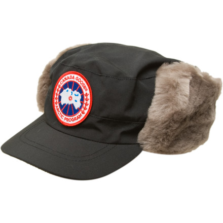 Grace your next chilly walk downtown with the Canada Goose Classique Shearling Fur Hat. Complete with a DWR coating, this chic hat keeps you as comfortable as you are stylish. Plush sheep-wool ear flaps mean even the nastiest winter winds won't cut your time out short. - $149.95