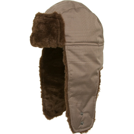 Entertainment If hanging with the boys out on the ice or hitching up your huskies to the sled is more your style, than keep your head toasty with The North Face Hoser Hat when you're out playing in the frigid air. Faux fur-lined flaps snap down to keep your ears warm, and the hat's waterproof HyVent fabric combats the elements when it gets a bit nasty outside. Its Heatshield synthetic insulation offers great warmth-to-weight ratio and is extremely durable, especially when you're out drinking with your buddies in the cold. - $24.72