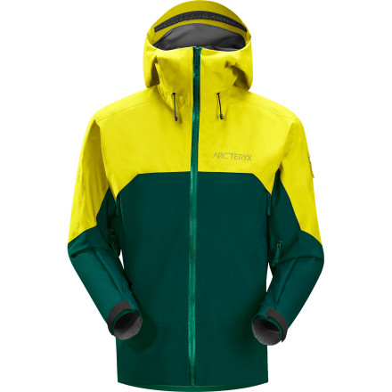 Ski You want a high-performance, durable jacket that'll stand up to years of snow slaying, but you'd also like a jacket that doesn't feel like a crinkly tarp. The Arc'teryx Men's Rush Jacket uses two different Gore-Tex Pro Shell 3L fabrics to provide durability in high-abrasion areas and comfort in lower-wear areas. - $274.98
