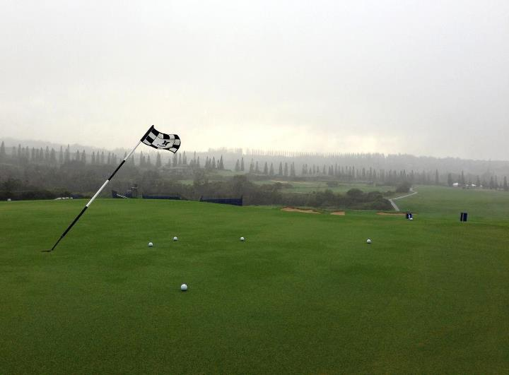 Golf Mother Nature isn't messing around in Maui. The first round of the Hyundai Tournament of Champions was postponed again today due to severe weather conditions. Updated tee times for our TaylorMade Tour Staffers: http://bit.ly/S5WhR4