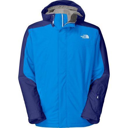 Ski The North Face Freedom Jacket is a versatile, all-mountain shell that keeps you dry when you're on the hill. Whether you're rocking it by itself on a wet snow day or teaming it up with a puffy jacket to deal with cold, stormy weather, this jacket delivers all-day comfort no matter what the weather is like. - $153.97