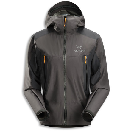 The Arc'teryx Alpha SL Hybrid Jacket uses super-tough Gore Tex Pro Shell in areas of high stress, like the shoulders and underarms, to add durability. The body, sleeves, and hood of the Alpha SL Hybrid are Gore Tex Paclite, which reduces weight and increases packability. - $348.95