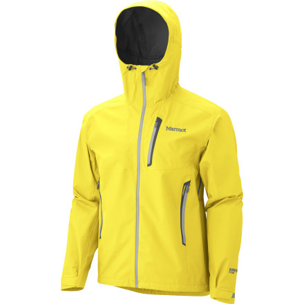 Don't blink or you might miss the 12.3-ounce Marmot Men's Speed Light Jacket as its Gore-Tex Pro Shell fends off a torrential downpour on the summit of a 14'er or halfway through the Appalachian Trail. Inside and outside, this three-season jacket provides all the venting, seam taping, and breathable fabric technology you need for comfortable, fast-and-light missions in wild weather. And don't be surprised if you can't remember seeing this jacket before, because it's new. - $424.95