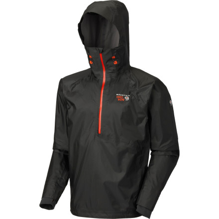 After Ueli Steck fuels his body and checks his equipment, he slips the Mountain Hardwear Men's Quasar Pullover Jacket over his head. Why' Because the fastest man in the mountains needs lightweight, ultra-breathable, waterproof gear to comfortably move so quickly with such focus over iced rock. - $262.47