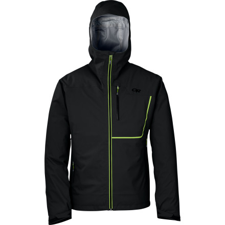Climbing Engineered for summer and shoulder-season alpine climbing, the lightweight Outdoor Research Axiom Jacket features a Gore-Tex waterproof breathable membrane for peace of mind during those light-and-fast expeditions. - $374.95