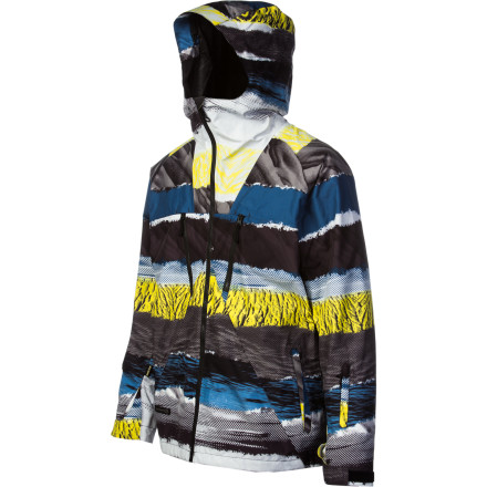 Surf With Gore-Tex guaranteed waterproof breathable membrane, a 2-way adjustable fixed hood, and RECCO Advanced Rescue Technology, the Quiksilver Travis Rice Symbol Gore-Tex Jacket protects you from the weather and more. - $220.00