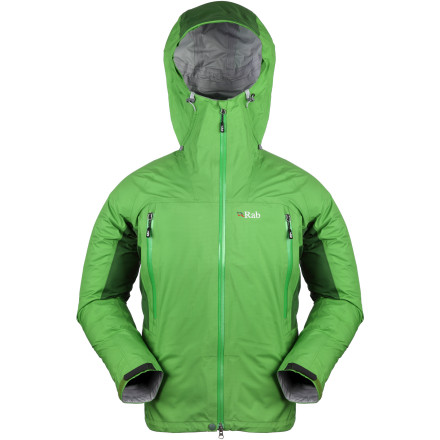 Climbing The Rab Mens Latok Alpine Jacket is a mountain-ready shell that has you ready for alpine climbs in all kinds of weather. Wear this jacket by itself for warm-weather climbing, or wear it over an insulating midlayer when the temperature drops. - $349.95