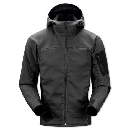Ski The Arc'teryx Epsilon SV Hooded Jacket delivers moderate warmth and mind-blowing breathability during aerobic backcountry activities. Light insulation takes the chill out of sunset hikes, and the bonded polyester shell resists water while letting the moisture inside your jacket escape with ease. - $234.95