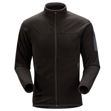 Your everyday life takes you from the roaring fireplace to the chilly outdoors, and you need a fleece layer that can keep up'allow us to present the insulated, breathable Arc'teryx Men's Caliber Cardigan Jacket. Easily reach, catch, push, or pull while wearing this relaxed-fit fleece'articulated underarm gussets mean you move freely. Even in the biting cold, tight-woven Polartec fleece insulates you from the chill, and when it's time to step up your activity level, this moisture-wicking material keeps you dry and cool. Need to hit the coffee shop' Rather than looking all tech-nerdy, the Caliber keeps your style outdoor-casual thanks to the corduroy-textured exterior and a refined profile. - $81.92