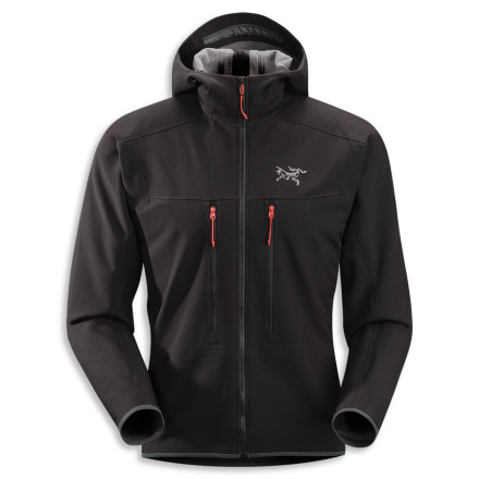 Arc'teryx designed the Men's Acto MX Hooded Fleece Jacket for the fast-and-light crowd. The Acto weighs barely more than a pound and provides bulk-free insulation and a smooth, weather-resistant, easy-to-layer face fabric. - $298.95