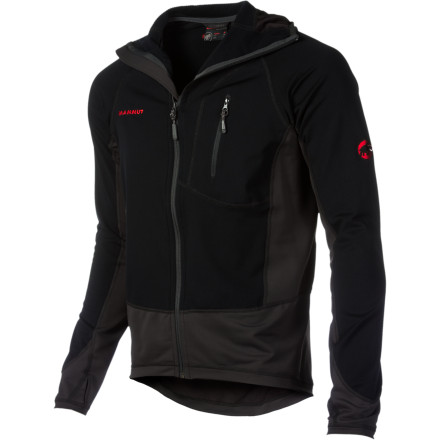 Climbing Featuring perspiration absorbing and quick drying Field Sensor fleece, the Men's Mammut Kala Patar Tech Fleece Jacket is built for climbing performance at home or abroad. The athletic fit with elastic inserts allows for complete freedom of movement while the extra-thin stretch hip panels eliminate bulk for comfort while wearing a harness or pack. If the weather really takes turn for the worst, the Flatlock seams make the Kala Patar an excellent mid-layer that easily slides beneath a shell. - $103.93
