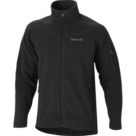 Ski Generate your own heat when you wear the Marmot Men's Radiator Fleece Jacket on a chilly day hike or backcountry ski tour. Worn on its own or layered under a shell, the Radiator's 200-weight Polartec fleece delivers lightweight, highly effective warmth, even when wet. Zippered hand and sleeve pockets hold your small essentials, and the elastic drawcord hem cinches to seal out cold air. - $87.47