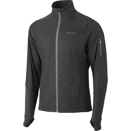 Fitness The Marmot Men's Fusion Fleece Jacket has what you always hoped your dream fleece would have: wind-resistant, DWR-coated nylon material throughout the chest, shoulders, and arms for protection with a blend of nylon and elastane at the sides, back, and underarms for uninhibited movement and extensive breathability. Now you can run head-on into a spring shower and not feel like a steamed oyster in a restrictive shell. - $74.98