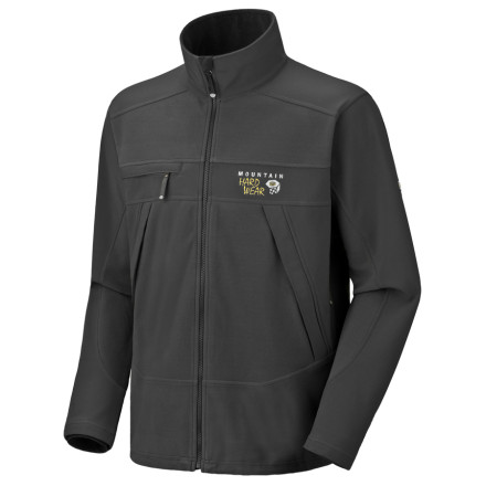 Ski Mountain Hardwear combined AirShield Fleece and Deflection Softshell to give the Mountain Tech Jacket the ability to hold in warmth while it stops icy winds. Layer it under a water-resistant shell for cold-weather skiing or all by itself for chilly days around town. - $179.95
