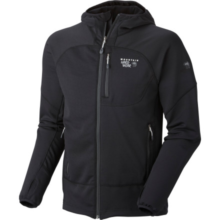 Mountain Hardwear beefed up the Desna Fleece Jacket with an advanced flexible poly fleece that keeps you warm and opens up your range of motion. You'll be able to reach for overhead holds without being held back by a binding jacket. Plus, if the weather turns, this breathable fleece slides neatly under a waterproof shell. - $98.97