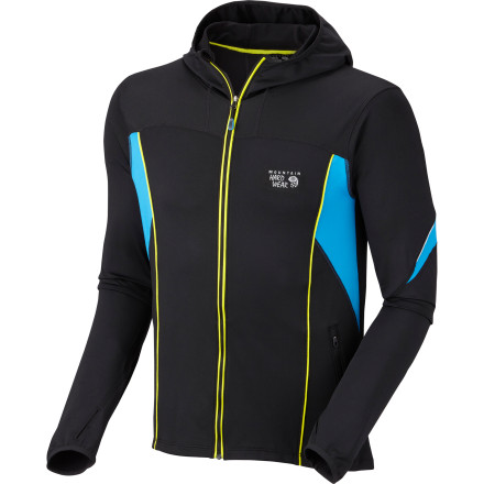 The Mountain Hardwear Super Power Fleece Jacket was designed specifically for cold-weather endurance runs, but it's versatile enough to be worn during all kinds of winter activities. The stretch fleece fabric lets you move freely so you can throw snowballs, build snowmen, curl, shovel snow, or rake leaves. - $119.95