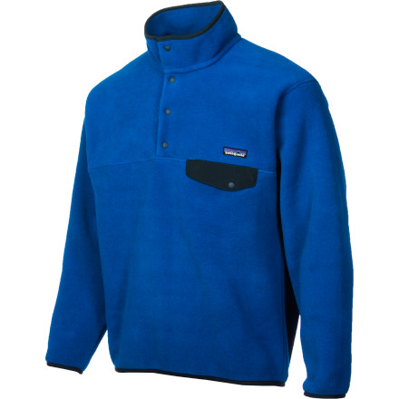 Ski Pull on the Patagonia Synchilla Snap-T Fleece for a chilly fall afternoon in town, or layer it under a hardshell during a frigid morning on the ski hill. This classic fleece goes back to the first days of Patagonia. The four-snap placket opens easily to cool you off while you're walking around downtown. A relaxed fit makes it easy to layer a sweater under the Synchilla Snap-T. - $77.35