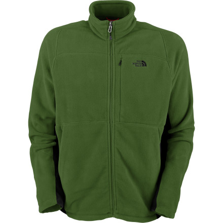 The versatile North Face Men's TKA 200 Echo Full-Zip Fleece Jacket not only helps block the chilly wind, but keeps you from shivering in front of the ladies. This zip-in compatible (only with select North Face outerwear) fleece has underarm gussets for increased mobility, dries quickly, and provides UPF 30-rated sun protection. Multiple secure pockets also store your small essentials so you're not left wondering where your car keys are. - $59.47