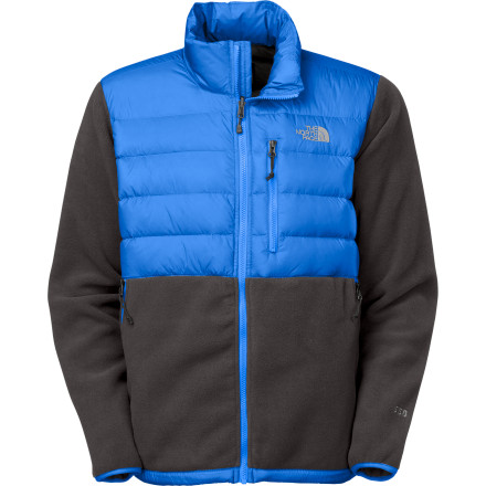 From chilly campuses to spring Sierra storms, The North Face Denali Down Fleece Jacket provides heat-trapping performance that justifies all the hype. Not your standard fleece, this more Denali features 550-fill down in the core to ensure your body heat doesn't escape during cold days in town. To get the most out of this souped-up fleece, zip it into a compatible jacket from The North Face (sold separately) and head to hills for a life-changing week in the mountains. - $139.27